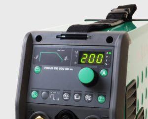контролен панел на аргоновия апарат migatronic-focus tig 200 dc